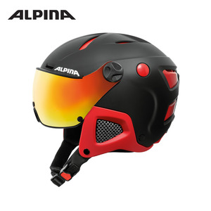 [알피나/ALPINA]17/18_ATTELAS Visor QVM_black-red matt